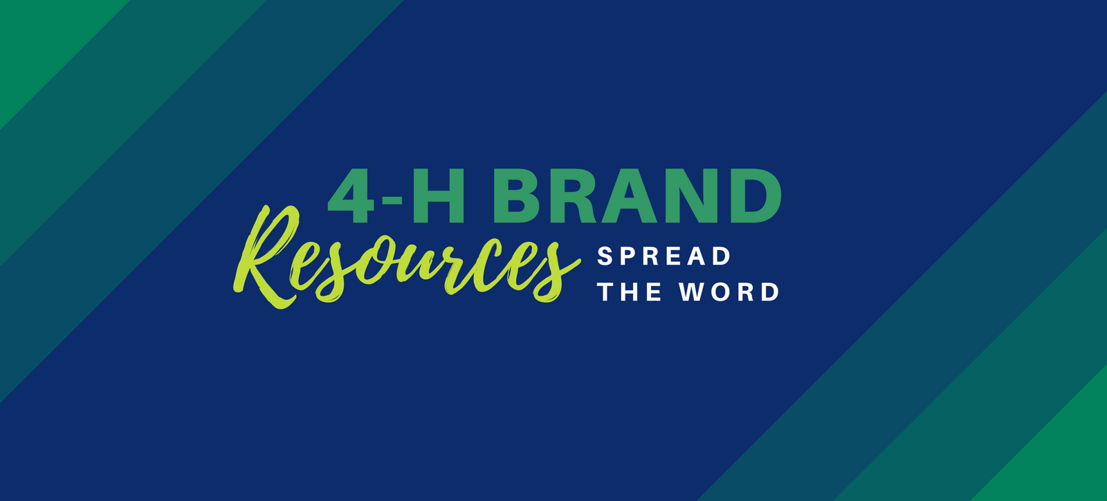 4-H brand resources banner
